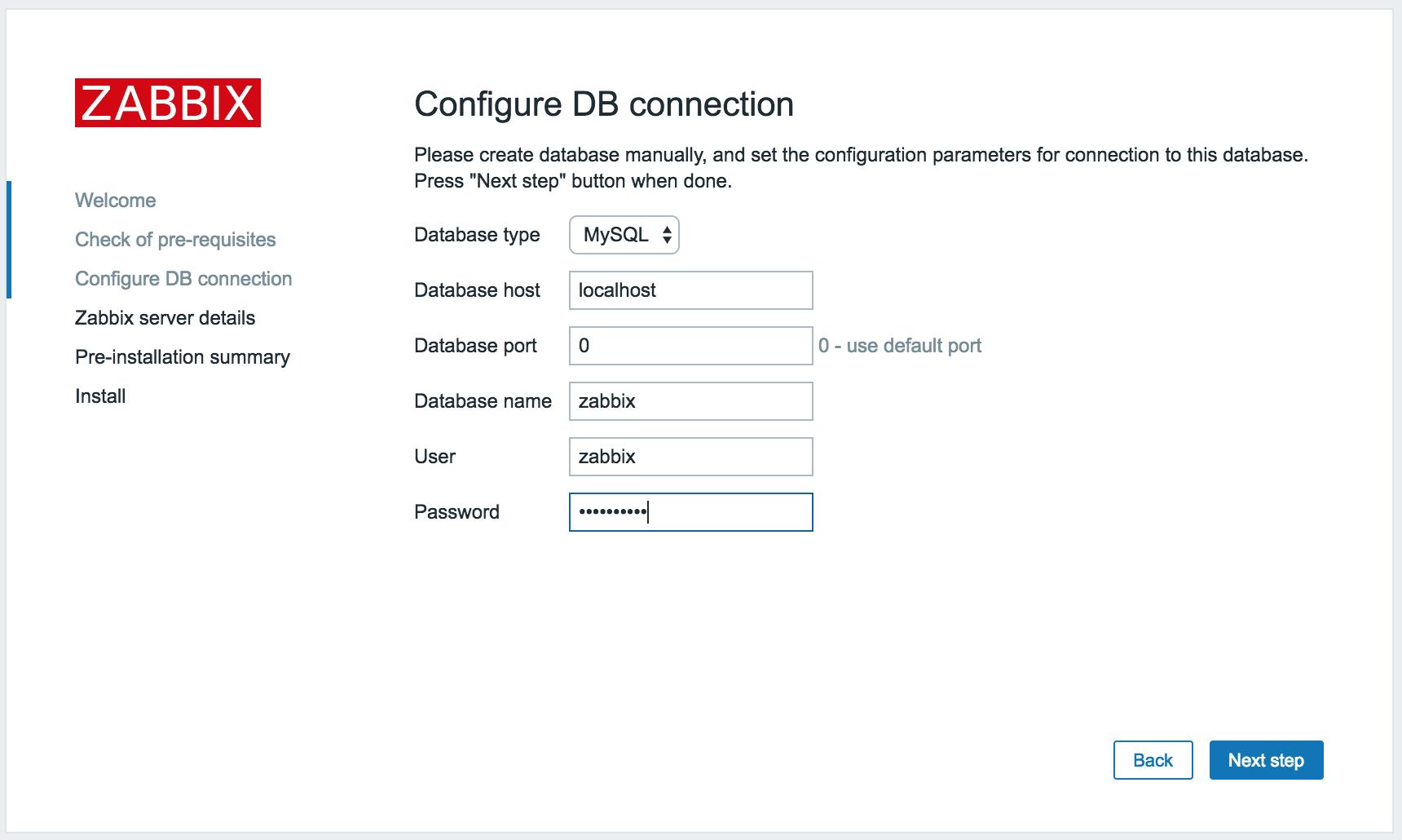 Установка соединения с сервером БД MySQL